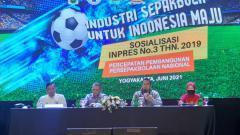 Indosport - Acara sosialisasi Inpres nomor 3 tahun 2019 di Royal Ambarrukmo, Yogyakarta, Sabtu (12/06/21).