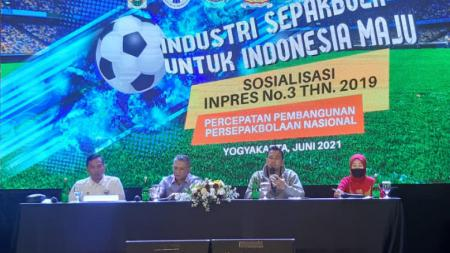 Acara sosialisasi Inpres nomor 3 tahun 2019 di Royal Ambarrukmo, Yogyakarta, Sabtu (12/06/21). - INDOSPORT