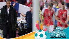 Indosport - Pemain Timnas Denmark, Christian Eriksen Mendapat Perawatan