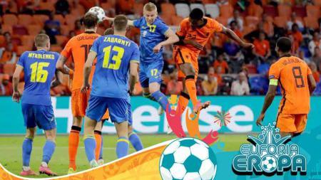 Terselip tiga fakta mengejutkan di balik kemenangan dramatis Belanda atas Ukraina dalam laga ketat Grup C Euro 2020, Senin (14/06/21) dini hari WIB. - INDOSPORT