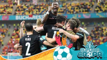 Berikut klasemen sementara grup C Euro 2020, yang mana tim kuda hitam, timnas Austria bersaing dengan Belanda karena keduanya meraih kemenangan. - INDOSPORT