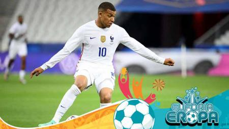 Kylian Mbappe, pemain Timnas Prancis di Euro 2020. - INDOSPORT