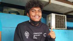Indosport - Gelandang muda Persib, Saiful, saat ditemui INDOSPORT.com beberapa waktu lalu.