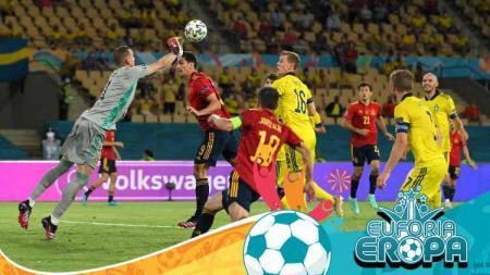 Pedri buka suara ketika Timnas Spanyol banjir hujatan usai timnya ditahan imbang Swedia di Euro 2020. - INDOSPORT
