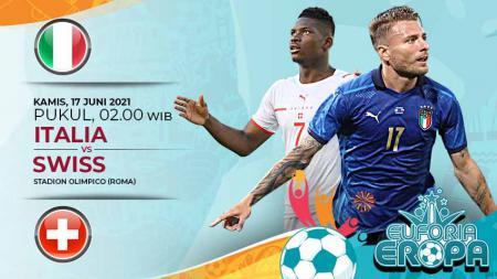 Berikut prediksi pertandingan Grup A Euro 2020 antara Timnas Italia vs Swiss. - INDOSPORT