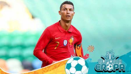 Cristiano Ronaldo, striker Timnas Portugal sukses raih top skor Euro 2020 sementara kalahkan Romelu Lukaku dan Robert Lewandowski sekaligus. - INDOSPORT