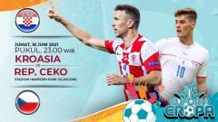 Indosport - Pertandingan antara Kroasia vs Rep Ceko (Euforia Eropa 2020).
