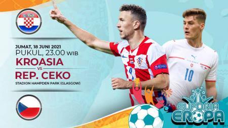 Pertandingan antara Kroasia vs Rep Ceko (Euforia Eropa 2020). - INDOSPORT