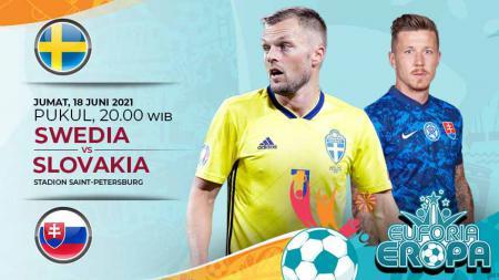 Prediksi pertandingan antara Swedia vs Slovakia. - INDOSPORT