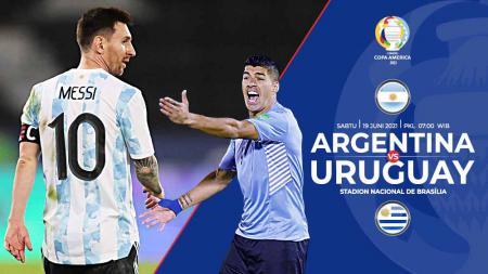 Pertandingan antara Argentina vs Uruguay (Copa Amerika). - INDOSPORT