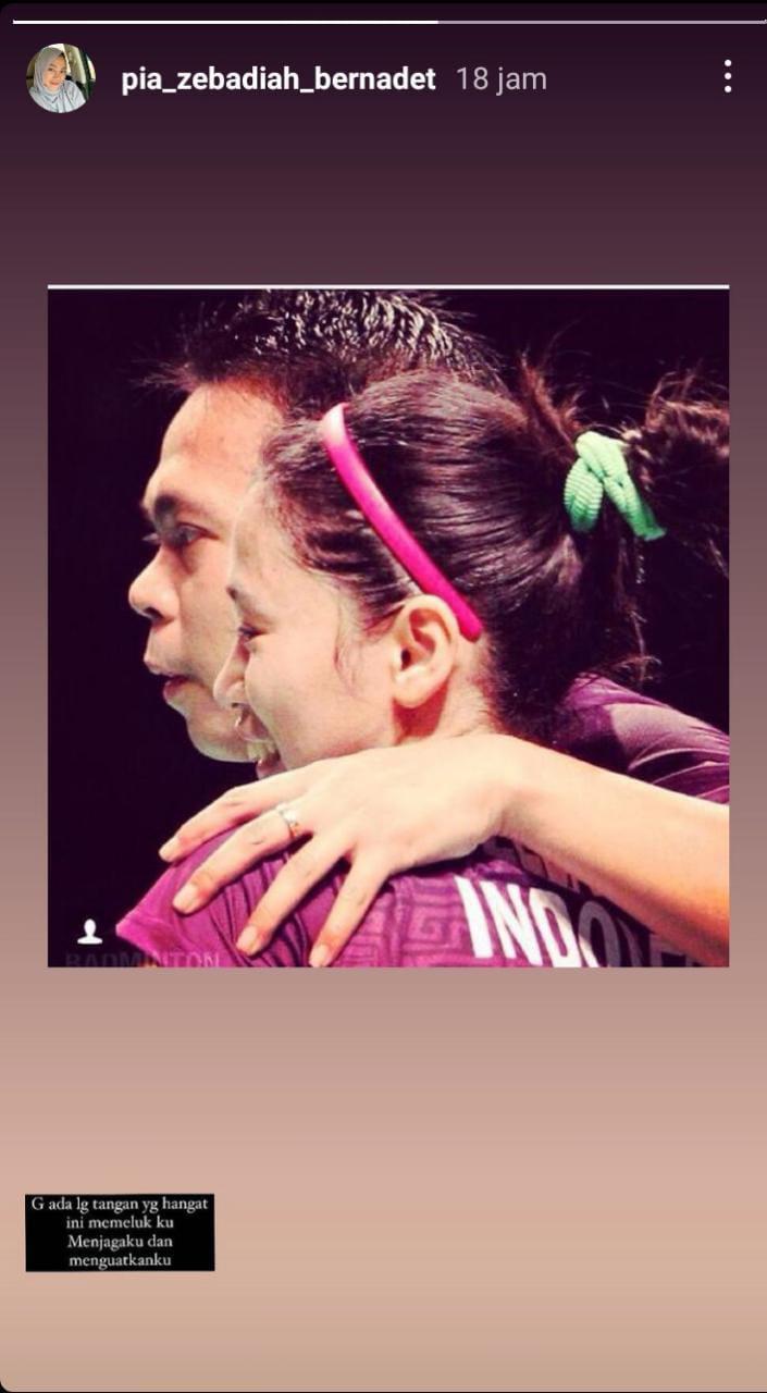 Jeritan hati adik mendiang Markis Kido, Pia Zebadiah, melalui media sosial Copyright: Instagram Pia Zebadiah Bernadet