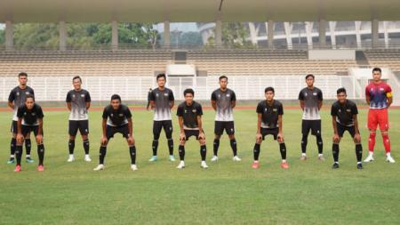 Tim Liga 2, Dewa United FC, harus mengakui keunggulan Bhayangkara FC 3-0 dalam laga uji coba di Stadion PTIK. - INDOSPORT