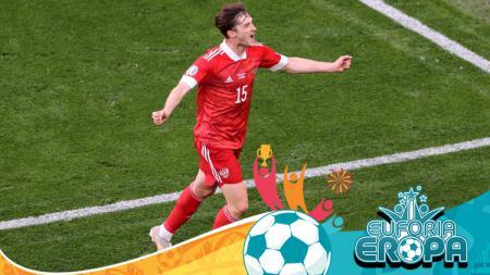 Euro 2020: Selebrasi Aleksei Miranchuk Saat Cetak Gol di Laga Finalndia vs Rusia - INDOSPORT