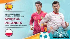 Indosport - Berikut link live streaming pertandingan babak penyisihan grup E Euo 2020 yang mempertemukan Spanyol vs Polandia pada Minggu (20/06/21) pukul 02.00 WIB.