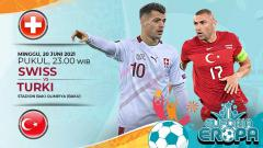 Indosport - Pertandingan antara Swiss vs Turki (Euforia Eropa 2020).
