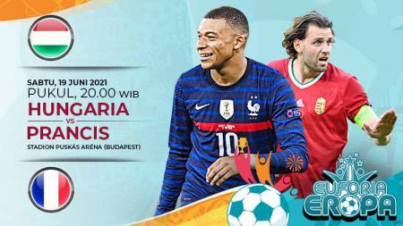 Pertandingan antara Hungaria vs Prancis di Euro 2020 bisa disaksikan melalui live streaming. - INDOSPORT