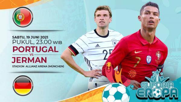 Link Live Streaming Euro 2020: Portugal vs Jerman