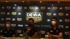Indosport - Jumpa pers Dewa United terkait ditundanya grand launching klub, Minggu (20/06/21) besok.