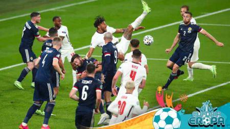 Duel di laga grup D Euro 2020 Inggris vs Skotlandia. - INDOSPORT