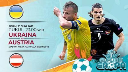 Link Live Streaming Pertandingan Grup C Euro 2020 antara Ukraina vs Austria. - INDOSPORT