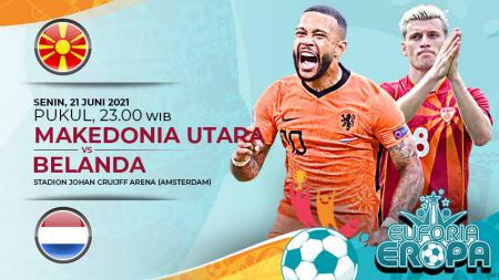 Link Live Streaming Pertandingan Grup C Euro 2020 antara Makedonia Utara vs Belanda. - INDOSPORT