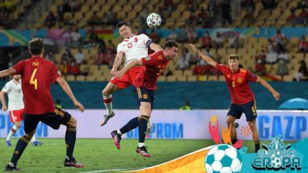 Laga Timnas Spanyol vs Polandia di Euro 2020 berakhir imbang. - INDOSPORT