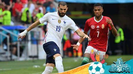 Jelang pertandingan terakhir grup F Euro 2020 kontra Portugal, Timnas Prancis arahan Didier Deschamps bakal andalkan duet Karim Benzema dan Antoine Griezmann. - INDOSPORT