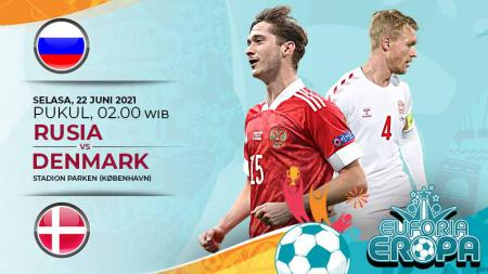 Link Live Streaming Pertandingan Grup B Euro 2020 antara Rusia vs Denmark. - INDOSPORT