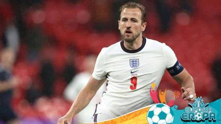Harry Kane saat berlaga di Euro 2020. - INDOSPORT