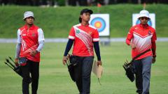 Indosport - Tim panahan Indonesia.