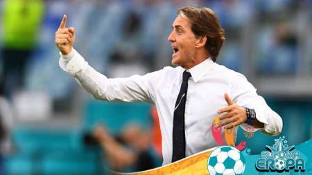 Robert Mancini: Italia Beruntung Lawan Austria di Stadion Wembley. - INDOSPORT