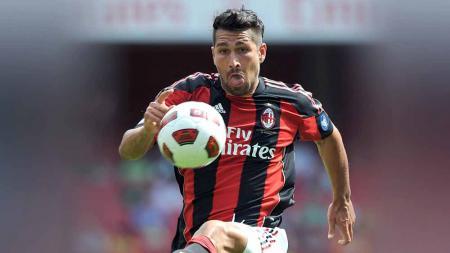 Marco Borriello saat masih membela AC Milan. - INDOSPORT