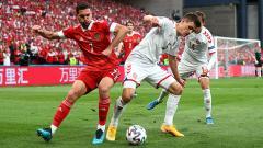Indosport - Rusia vs Denmark.