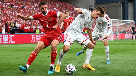 Rusia vs Denmark. - INDOSPORT
