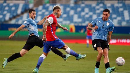 Uruguay vs Chile di Copa America. - INDOSPORT