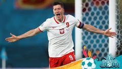 Indosport - Robert Lewandowski, pemain Timnas Polandia.