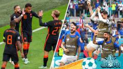 Indosport - Balas Dendam Belanda dan Italia di Euro 2020 Setelah Sempat Jadi Badut.