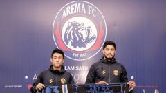 Indosport - Arema FC resmi mengenalkan Renshi Yanaguchi (Jepang) dan Adilson Maringa (Brasil) sbg pemain asing di Liga 1