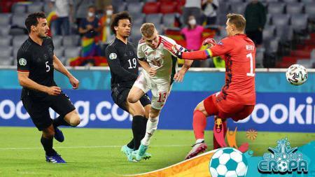 Timnas Jerman harus tersingkir dari Euro 2020 setelah mereka dikalahkan oleh Hungaria di laga terakhir Grup F Euro 2020. - INDOSPORT