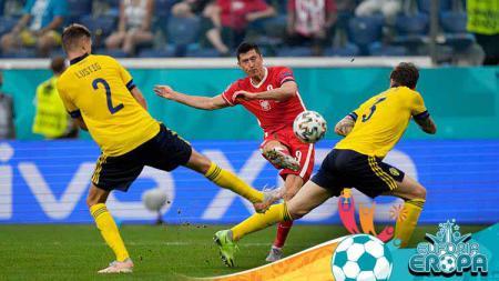 Laga antara Swedia vs Polandia di Euro 2020. - INDOSPORT