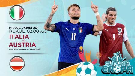 Link Live Streaming Pertandingan Babak 16 Besar Euro 2020: Italia vs Austria. - INDOSPORT