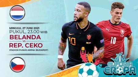 Pertandingan antara Belanda vs Republik Ceko (Euforia Eropa). - INDOSPORT