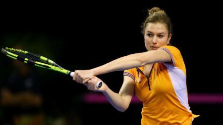 Petenis wanita Belanda, Indy de Vroome, punya pengalaman unik soal kostum Wimbledon. - INDOSPORT