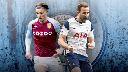 Manchester City difavoritkan memboyong duo timnas Inggris, Jack Grealish dan Harry Kane. Akan seperti apa formasi mereka musim depan jika transfer itu terwujud? - INDOSPORT