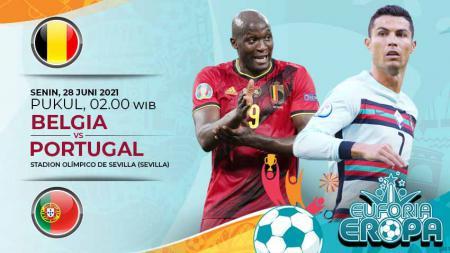Pertandingan antara Belgia vs Portugal (Euforia Eropa). - INDOSPORT