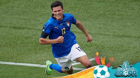 Gelaran Euro 2020 seakan menjadi milik klub Atalanta setelah lima pemainnya, termasuk Matteo Pessina, sukses menyumbang gol dan mengantarkan rekor. - INDOSPORT
