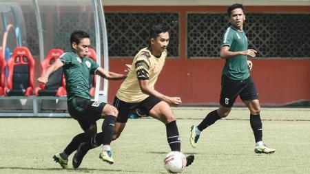 AHHA PS Pati memetik hasil positif di latihan bersama dengan tim Liga 1, PS Sleman dengan meraih kemenangan tipis 2-1. - INDOSPORT