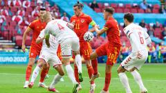 Indosport - Wales vs Denmark di Euro 2020.
