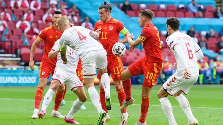 Wales vs Denmark di Euro 2020. - INDOSPORT