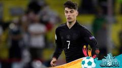 Indosport - Kai Havertz saat membela Timnas Jerman di Euro 2020.
